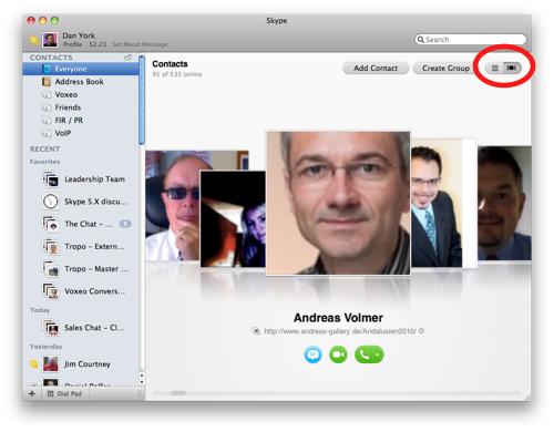 Skype 50 beta for mac os x a first look with screenshots skype 2g ccuart Choice Image