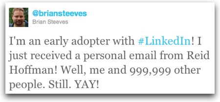 Twitter   Brian Steeves I m an early adopter with
