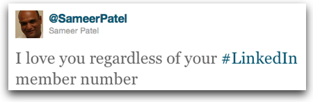 Twitter   Sameer Patel I love you regardless of y
