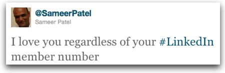 Twitter   Sameer Patel I love you regardless of y