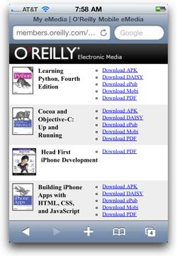 Oreillyebooks iphone