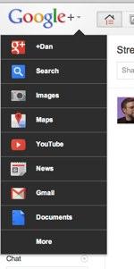 Google+dropdown 1