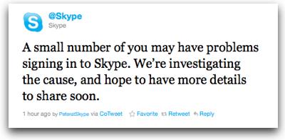 Skypeoutage