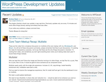 WordPressDevelopmentUpdates
