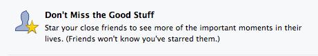 Facebook close friends