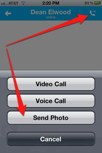 Iphone send photo 1