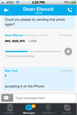 Iphone send photo 5