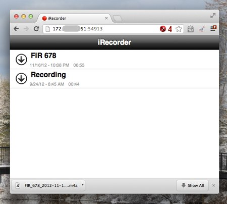 IRecorder browser