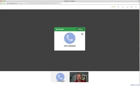 Hangouts phonecall