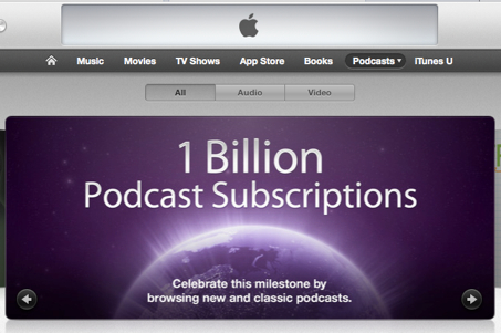 Itunes 1 billion podcasts banner 2