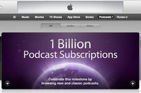 Itunes 1 billion podcasts banner 2