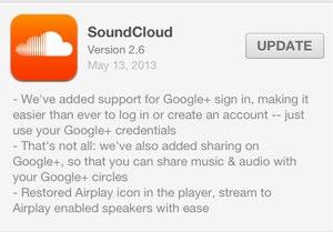 Soundcloud ios