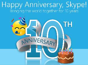 Skype's 10th anniversary