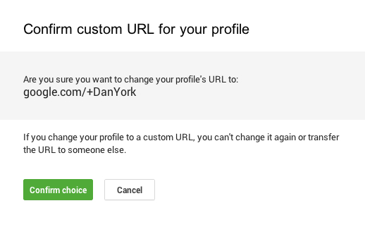 Google custom url confirm 2