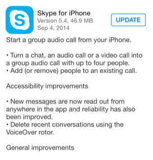 Skype 5 4 for ios