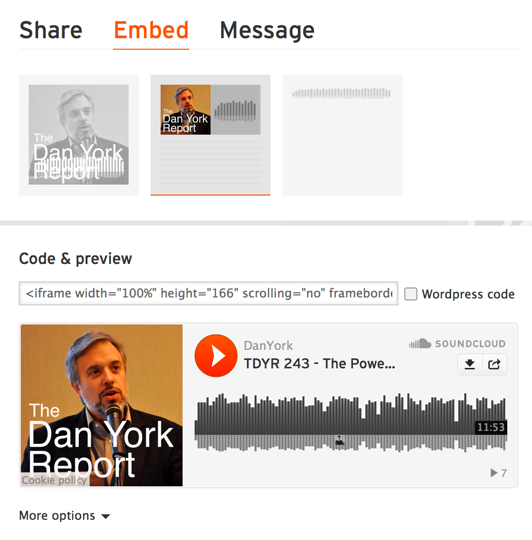 Soundcloud embed