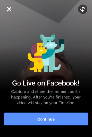 Facebook live video go live