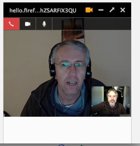 Firefox hello call in browser