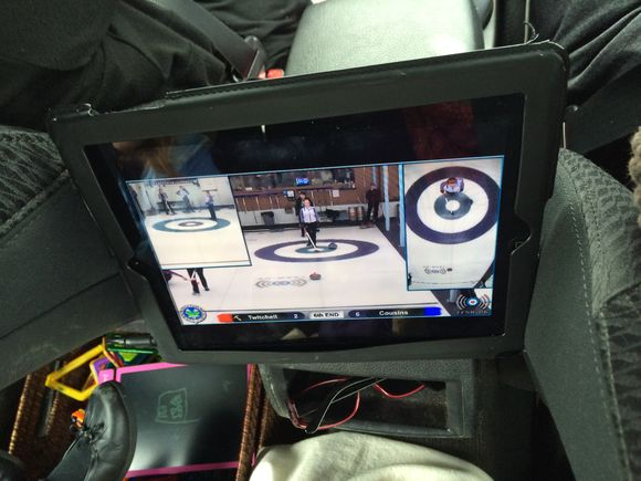 Watching Live Curling At 65mph on I-91