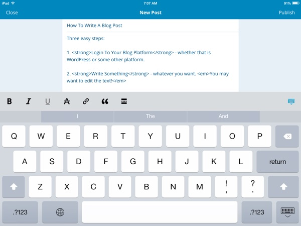WordPress iOS App Now Has WYSIWIG Visual Editor - Disruptive