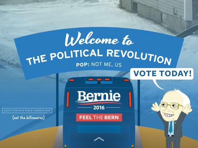 Bernie snapchat primaryday cropped
