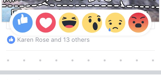 FB reactions mobile