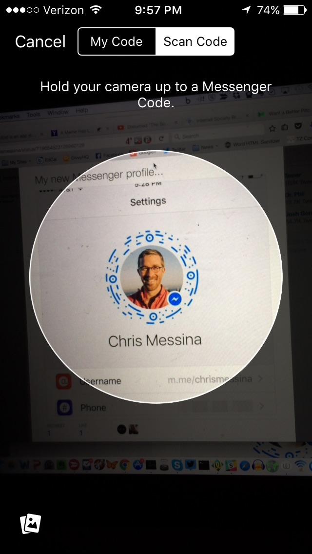 Fb messenger messina