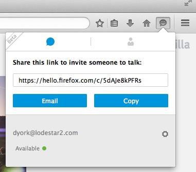 Firefox hello url