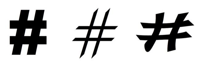 Octothorpes hashtags 660