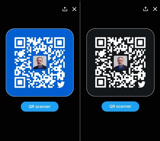 Twitter ios qr codes