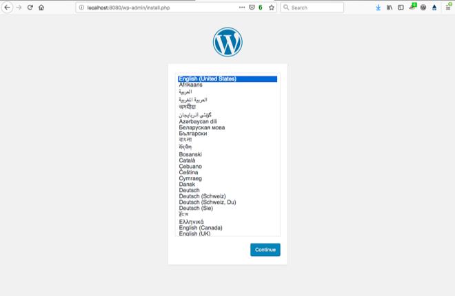 Wordpress installation 660px