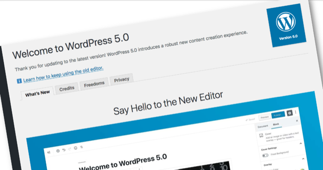 Wordpress 5 0
